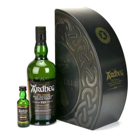 Distillerie Ardbeg - Whisky Ardbeg 10 ans - Coffret 1 mignonette d'Ardbeg Uigeadail