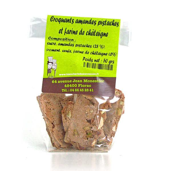 Crunchy Almond and Pistachio Chestnut Flour Biscuits