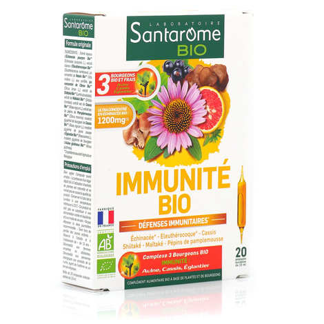 Santarome - Organic Immune Defences - 20 vials of 10ml