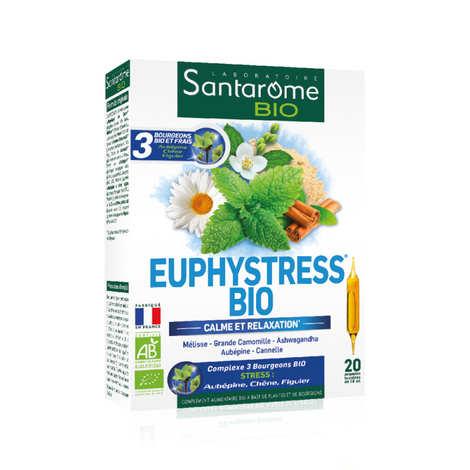 Santarome Bio - Euphystress® bio - 20 ampoules buvables de 10ml