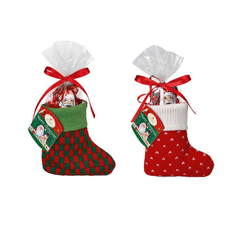 """Confiserie Heidel - Little knitted sock """"Christmas Time"""" with chocolates"""