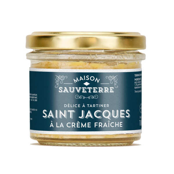 Saint-Jacques and cream spreads