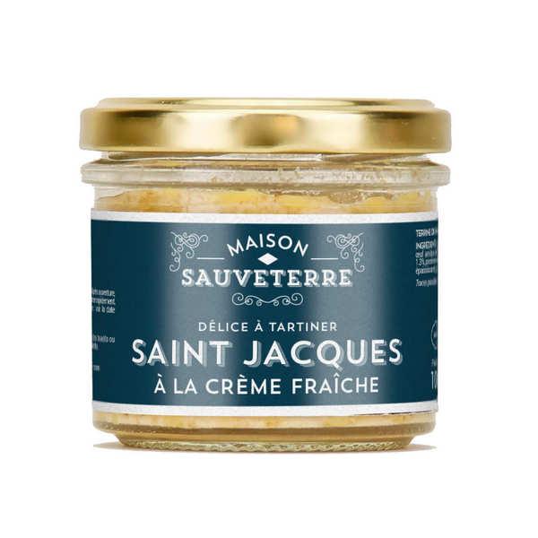 Saint-Jacques et crème fraîche à tartiner