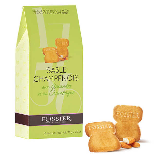 Sablés champenois aux amandes et champagne - maison fossier - etui 135g