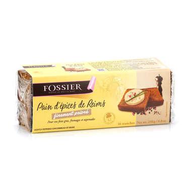 Pain d'épices de Reims finement poivré - Maison Fossier