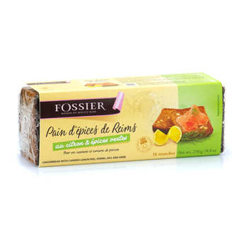 Biscuits Fossier - Lemon and Green Spices Gingerbread from Reims - Maison Fossier