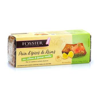 Biscuits Fossier - Pain d'épices de Reims citron et épices vertes - Maison Fossier