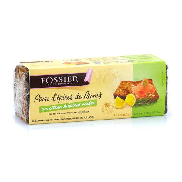 Pain d'épices de Reims citron et épices vertes - Maison Fossier