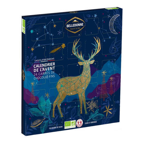 Belledonne Chocolatier - Organic Dark Chocolate Advent Calendar