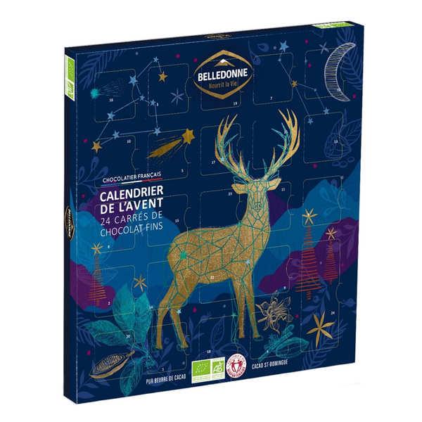Calendrier de l'avent au chocolat noir bio