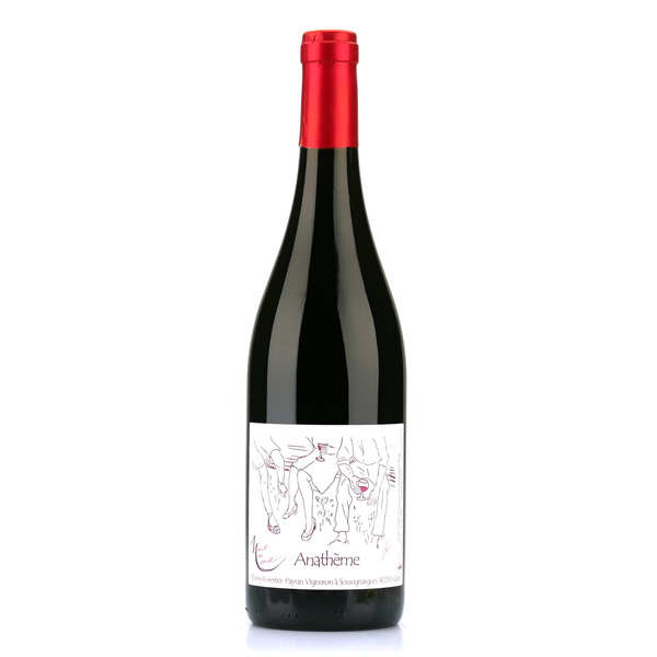 Anathème rouge - Red Wine from Languedoc with No Added Sulfite