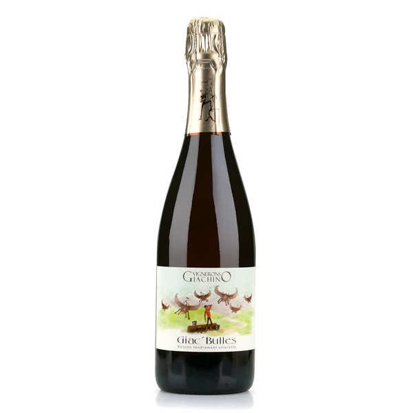 Giac'bulles - pétillant naturel de savoie bio - bouteille 75cl