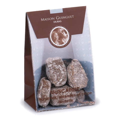 Maison Guinguet - Muscatine - Chocolats noisettes, amandes et crêpes dentelles