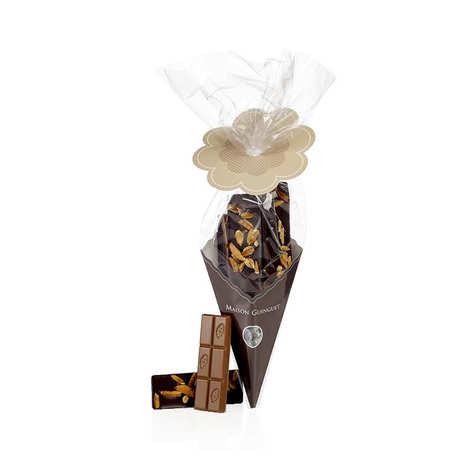 Maison Guinguet - Cornet de barres chocolatées - Noir, lait, blanc