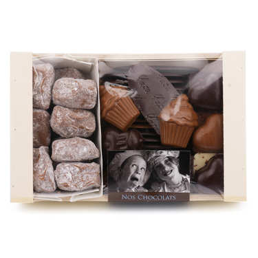Chocolates Assortment in Wooden Box - 400g