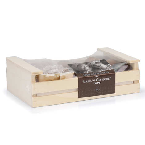 Maison Guinguet - Chocolates Assortment in Wooden Box - 400g