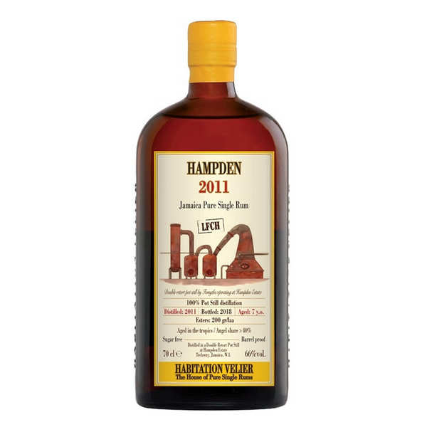 Jamaican rum Hampden 7 years old 2011 LFCH - 60.5%