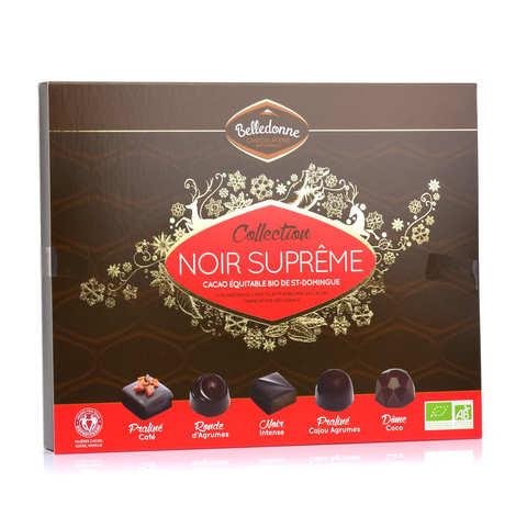 Belledonne Chocolatier - Coffret de 27 chocolats noirs bio