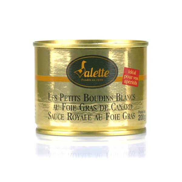 Petits boudins blancs au foie gras de canard