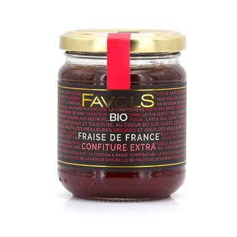 Favols - Confiture de fraises d'Aquitaine bio