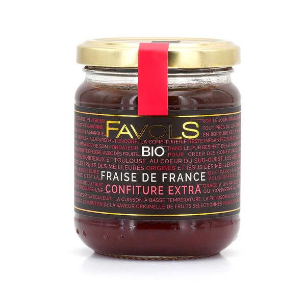 Confiture de fraises d'Aquitaine bio