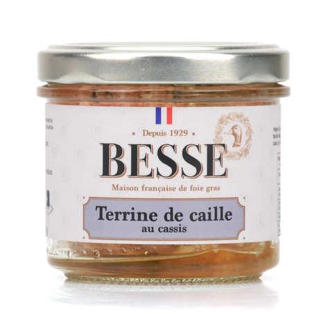 Foie gras GA BESSE - Terrine de caille au cassis
