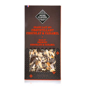 Michel Cluizel - Tablette chocolat lait 45% croustillant chocolat caramel