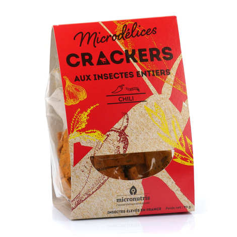 Micronutris - Espelette Pepper and Whole Mealworms Crackers