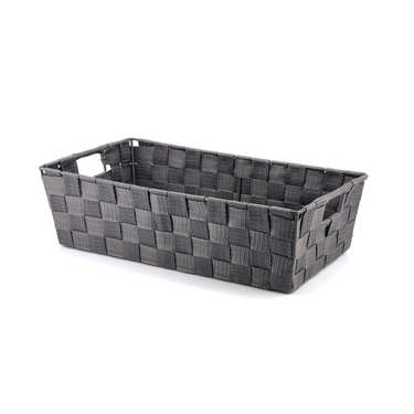 Grey Nylon Basket With Handles