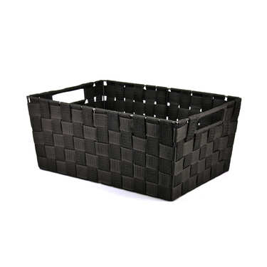 Large Black Nylon Basket With Handles