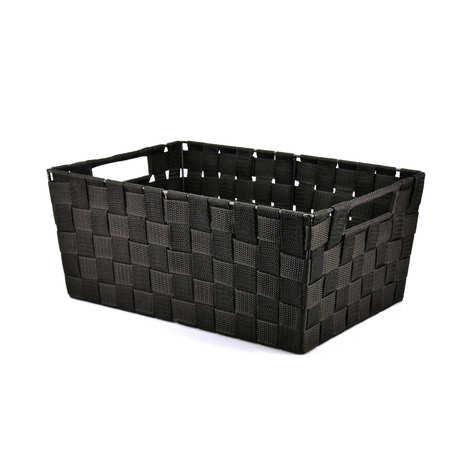 - Large Black Nylon Basket With Handles