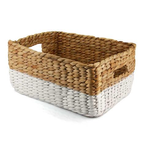 - Large Hyacinth Basket With Handles