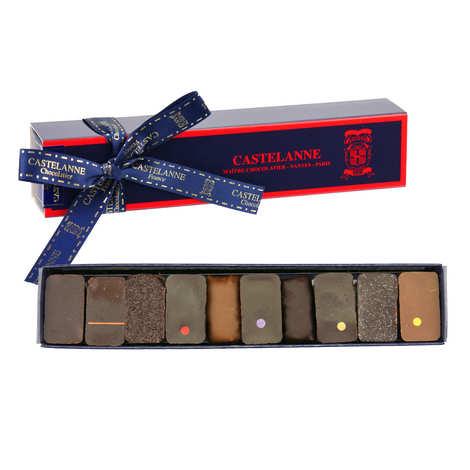 Castelanne - Assortment of 10 Dark and Milk Chocolate Ganaches