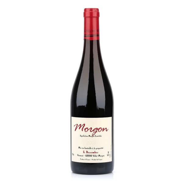 Morgon aoc - vin rouge du beaujolais bio et sans sulfites ajoutés - bouteille 75cl - 2017