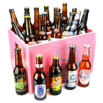 BienManger paniers garnis - 24 Beers from French Holiday Resorts Gift Box