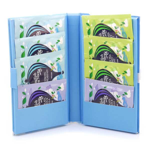 Organic Teas Packets in a Notebook - Travel Size Format - 3 Flavours