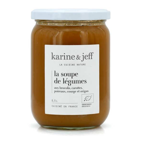 Soupe de légumes du potager bio