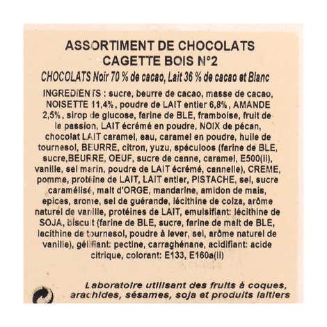 Maison Guinguet - Assortiment de chocolats en cagette bois - 720g
