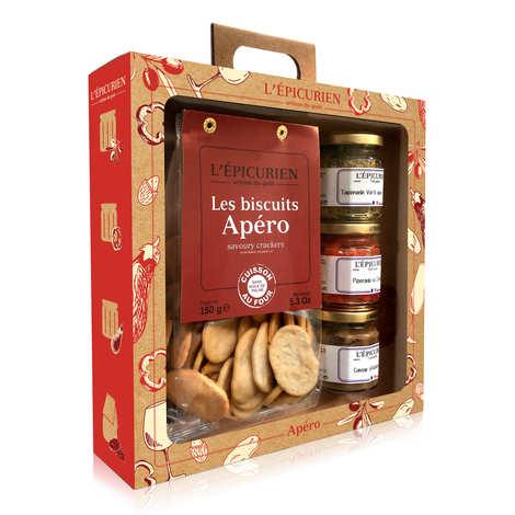 L'épicurien - Coffret Apéro - Tartinables et biscuits salés