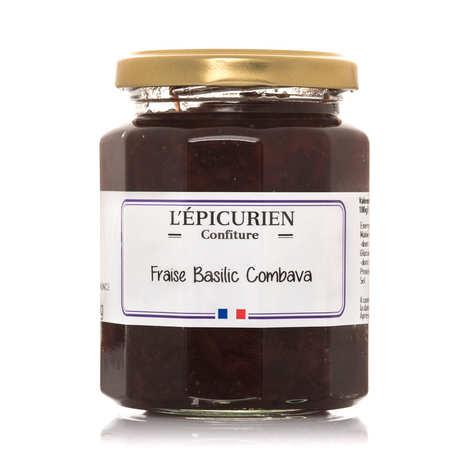 L'épicurien - Confiture de fraise basilic et combava