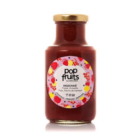 L'épicurien - Coulis de fruits 'Pop Passionné' - fraise, groseille, yuzu, poivre de Kampot