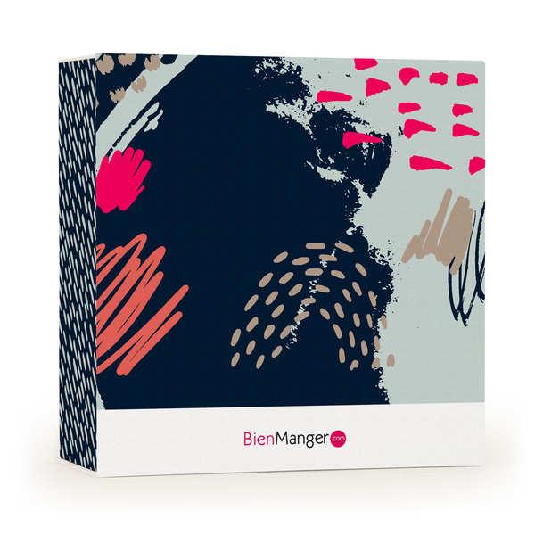 "Gift box BienManger.com with ""Imaginarium"" graphics"