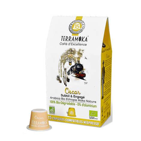 Terra Moka - 15 capsules bio compatibles Nespresso® Oscar biodégradables
