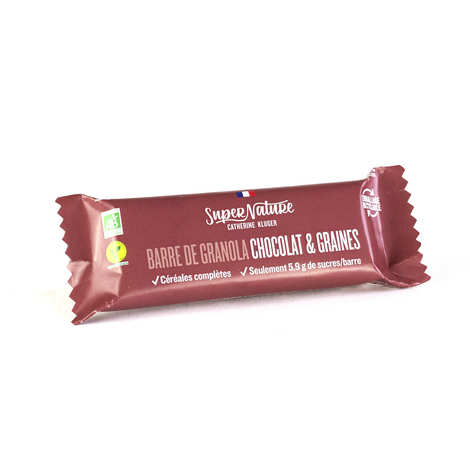 Granola Catherine Kluger - Organic Chocolate And Seeds Granola Bar