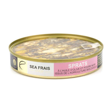Sea Frais Gold - Organic Sprats in Olive Oil with Pepper
