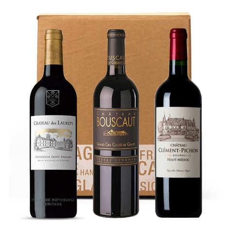 - Box 3 grands vins rouges