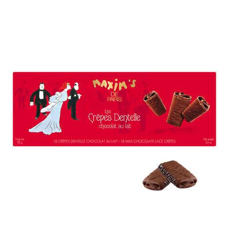 Maxim's de Paris - Lace Crepes Coated with Milk Chocolate in Case - Maxim's