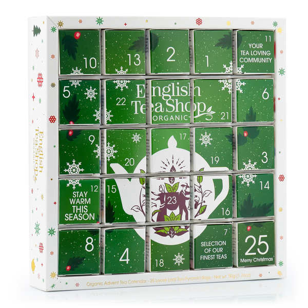 calendrier de l 39 avent de th s biologiques english tea shop. Black Bedroom Furniture Sets. Home Design Ideas