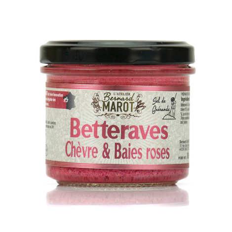 Bernard Marot - Betterave, baies roses et fromage de chèvre à tartiner