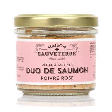 Duo saumon fumé et poivre rose à tartiner Maison Sauveterre
